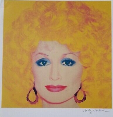 $99 • Buy Andy Warhol Hand Signed Portrait Of Dolly Parton From Exclusive Catalog