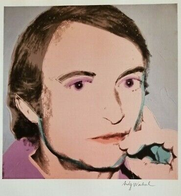 $99 • Buy Andy Warhol Hand Signed Portrait Of Roy Lichtenstein From Exclusive Catalog