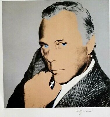 $99 • Buy Andy Warhol Hand Signed Portrait Of Giorgio Armani From Exclusive Catalog