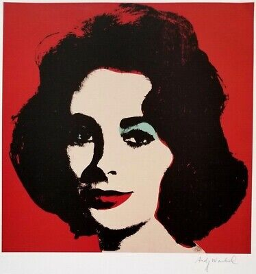 $99 • Buy Andy Warhol Hand Signed Portrait Of Liz Taylor From Exclusive Catalog