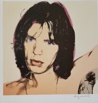 $99 • Buy Andy Warhol Hand Signed Portrait Of Mick Jagger From Exclusive Catalog