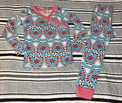 $8 • Buy Girls Size 4t (100) Organic HANNA ANDERSSON Pajamas Jammies•Candy Canes•