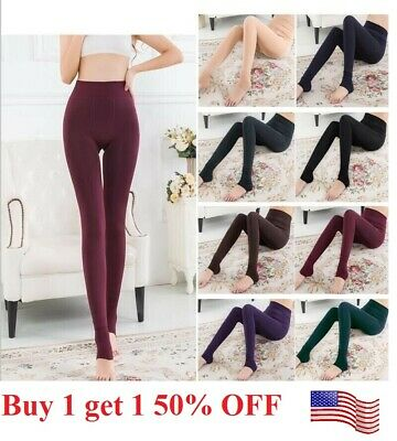 £4.96 • Buy US Women Thermal  Stretch Fleece Lined Thick  Winter Warm Pants Tight Leggings
