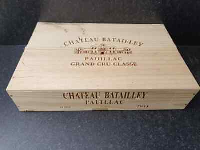£24.95 • Buy Wine Box With Lid - Flat Half Size Genuine French Wooden Wine Crate Storage