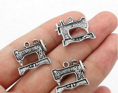 $8.99 • Buy 100 Antique Silver Sewing Machine Charms Pendants 20 X 18mm. Free Shipping