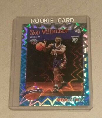 $46.99 • Buy Zion Williamson Nba Hoops 2019-20 Tribute Teal Explosion 296 Rookie Card Sp Mint