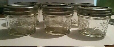 $10.52 • Buy Ball Crystal Quilted Mason Jars 4 Oz Set Of 6 , Glass Jars, Jelly