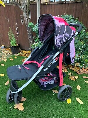Koochi Pushmatic 3 Wheeler Pushchair Birth Stroller Brooklyn Buggy Pram Pushchai • 57£