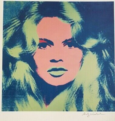 $99 • Buy Andy Warhol Hand Signed Portrait Of Brigitte Bardot From Exclusive Catalog