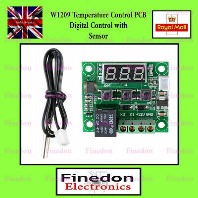 Digital Temperature Control Switch Thermostat PCB W1209 -50-110°C 12V Supply • 3.92£