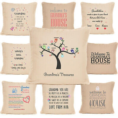 Personalised Gift For Grandma House Pillow Cushion Present For Gran Nanna  • 9.99£