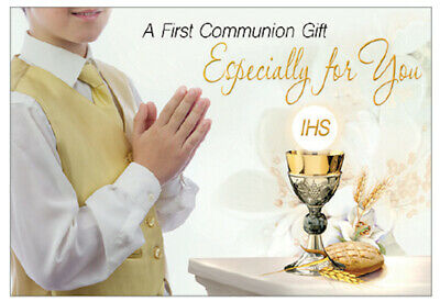 Boy's First Holy Communion Gift Card With Money Wallet Religious Gift New • 2.50£