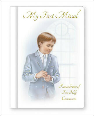 £4.99 • Buy Boy's First Holy Communion My First Missal Book White Hard Back Religious Gift