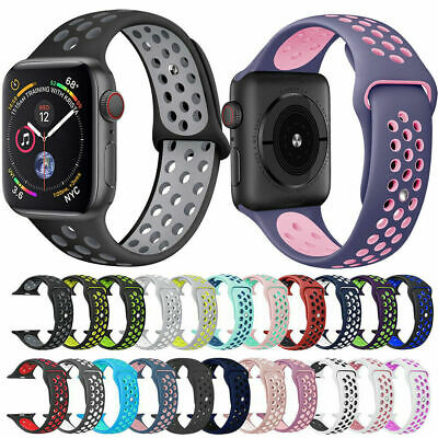 $ CDN4.16 • Buy Sports Silicone Bracelet Wrist Band Strap For Apple Watch Series 5 4 3 2 1 38/44