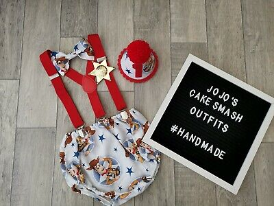 Baby Boys 1st Birthday Cake Smash Outfit. Blue, Red,. Woody. *toy Story Theme*  • 22.90£