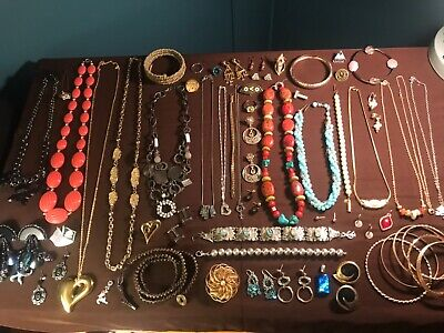 $ CDN21.99 • Buy Huge VTG-Now Jewelry Lot 925 Sterling Silver Gemstones Signed Rhinestones