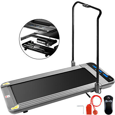AU425.99 • Buy Folding Treadmill Under Desk 2in1 Electric Motor Walking Pad Machine Portable