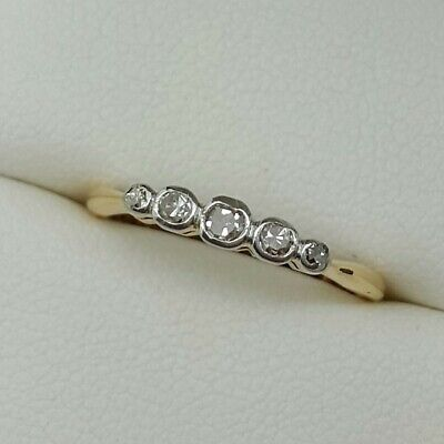 Antique Diamond 5 Stone In 18ct Gold. Ring Size I 1/2.  • 140£