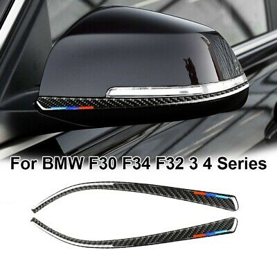 $9.38 • Buy 2pcs Car Side Mirror Trim Decoration Accessories For BMW F30 F34 F32 3 4 Series