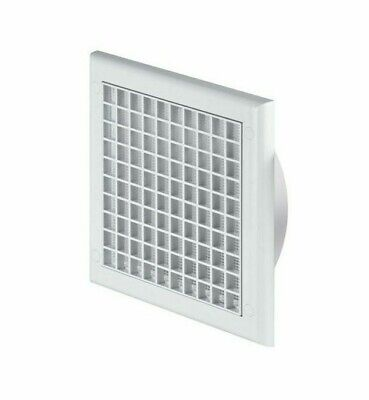 Ducting Ventilation Cover 100mm / 4  Fly Screen Ceiling Air Vent Grille Grid TP3 • 6.69£
