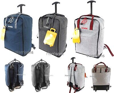 £18.95 • Buy Cabin Approved 18  Carry On Wheeled Flight Bag Luggage Trolley Case Bag Backpack