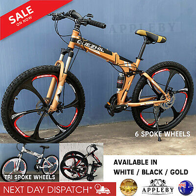 AU652.49 • Buy Deluxe Dual Full Suspension Mountain Bike 21 Speed Foldable Bicycle Folding Bike