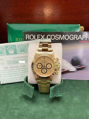 $ CDN56133.26 • Buy Rolex Zenith Daytona 16528 Inverted 6 Collectible 18K Yellow Gold Box Papers