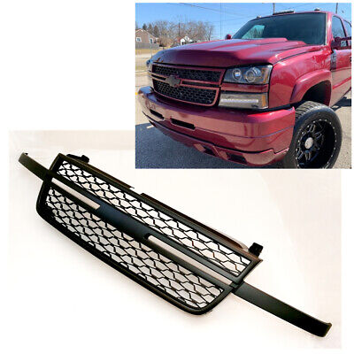 $119.99 • Buy For 05-07 Chevy Silverado 1500 2500HD 3500 Front Upper Black Grille Replacement