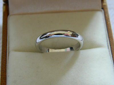 Clogau 18ct White Gold 3mm Windsor Collection Wedding Ring RRP £880.00 Size M • 550£