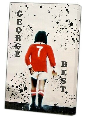 George Best Football Banksy Street Picture Photo Print On Framed Canvas Wall  • 18.52£