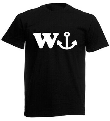 W Anchor Funny Joke Mens T-Shirt Birthday Gifts For Husband Boyfriend Men • 9.99£