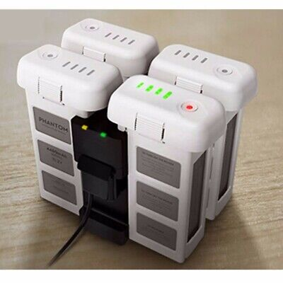 AU35.38 • Buy 4-in-1 Multi Battery Charger Hub Manager Black Intelligent For DJI Phantom 3 New
