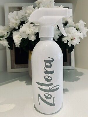 Mrs Hinch Inspired Zoflora White 500ml Gloss Spray Bottle Grey Decal -Free Post- • 8.99£