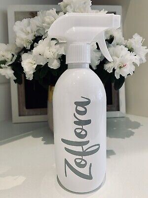 Mrs Hinch Inspired Zoflora White 500ml Gloss Spray Bottle Grey Decal -Free Post- • 8.49£