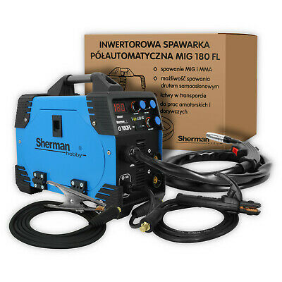 Sherman MIG 180A Portable Inverter Welder MMA Gas Gasless ARC Welding Machine • 189£