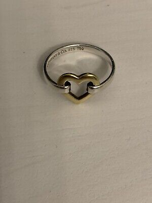 Tiffany 18k Yellow Gold And Sterling Silver Heart Ring  • 150£