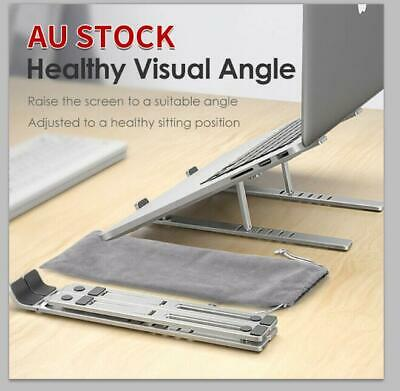 AU33.98 • Buy Height Adjustable Laptop Stand Portable Notebook Computer Table Desk PC Tray
