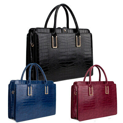 Genuine LYDC Croc Briefcase Handbag Office Work Bag Shoulder Bag Laptop GL8206D • 27.95£