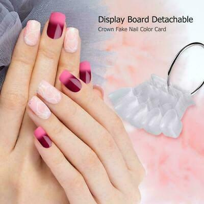 False Nail Tips Color Card Buckle Ring Manicure Nail Art Practice Display Tools • 0.99£