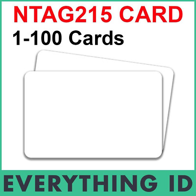 AU7.85 • Buy NTAG215 NFC WHITE PVC CARD TAG RFID TagMo ANDROID TYPE2 PHONE FORUM SWITCH CHIP