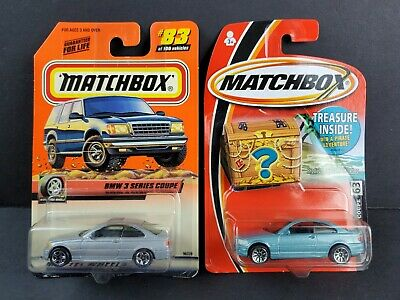 $14.35 • Buy Matchbox 1999 BMW 3 Series Coupe Metallic Blue 63 Silver 83 Diecast Car Lot Of 2