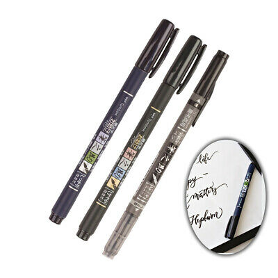 *UK Dispatch* Tombow Fudenosuke Calligraphy Brush Pen  Made In Japan • 3.49£