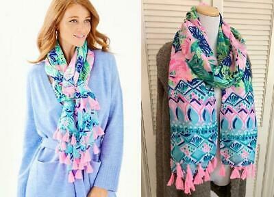 $29 • Buy NEW $58 Lilly Pulitzer Resort Scarf Multi Island Escape Engineered Wrap Coverup