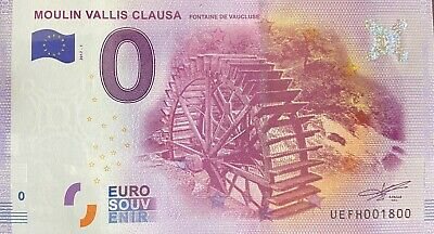 Ticket 0 Euro Moulin Rouge Vallis Clausa France 2017 Number 1800 • 9.81£