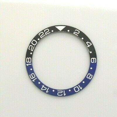 $ CDN63.52 • Buy Ceramic Bezel Insert For Rolex GMT Master II Batman Black / Blue Fits 116710