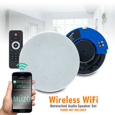Wireless WI-FI Home Audio System Powered Ceiling Speakers Multi Zone Room Music • 130£