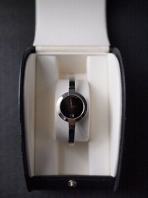 $199 • Buy Movado Womens Bela Watch Stainless Steel Black Dial Sapphire Crystal, Never Used