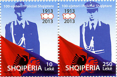 $ CDN8 • Buy Albania Stamps 2013. 100th Anniversary Of Albanian Police. Set MNH