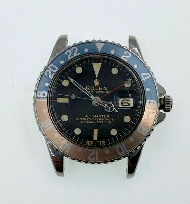 $ CDN49386.46 • Buy VINTAGE Rolex GMT Master Ghost Pepsi 1675 Gilt Gloss Dial Pointed Crown Guards