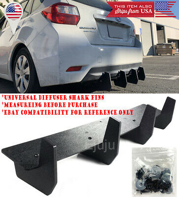 $68.91 • Buy 32  Bumper Diffuser Valence Wind Blade Extension Splitter 4 Shark Fins For Ford